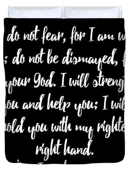 Isaiah 4110 Bible Duvet Cover