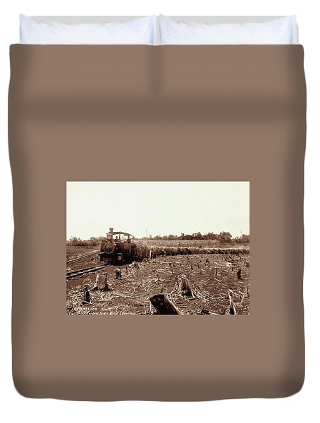 Isis Central Sugar Mill With Cane Train 17 September 1896 Duvet Cover