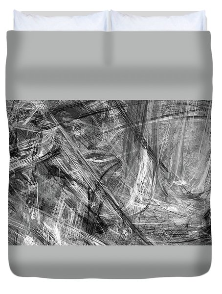 Duvet Cover featuring the digital art It Has Been A Busy Day by Angie Tirado
