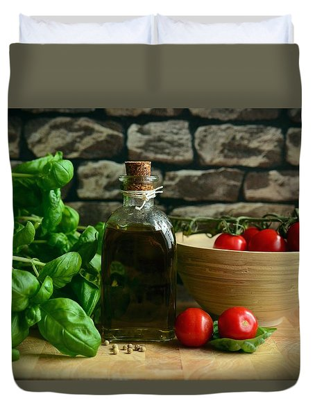 Italian Ingredients Duvet Cover