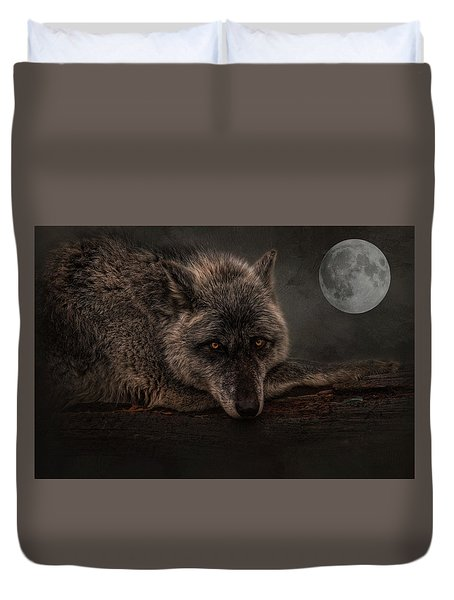 Its A Lonely Night  Duvet Cover