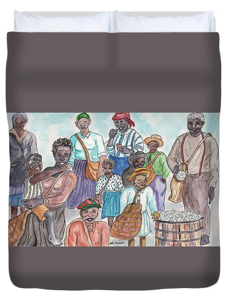 It's Cotton Picking Time At The Spangler Farm In South Alabama Duvet Cover