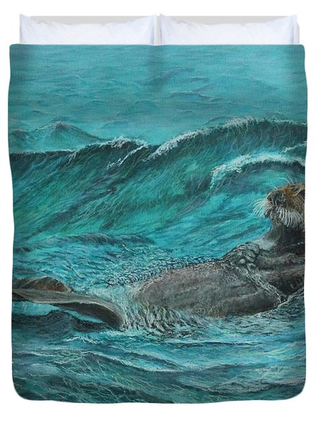 It's My Otter Day Off.....sea Otter Duvet Cover