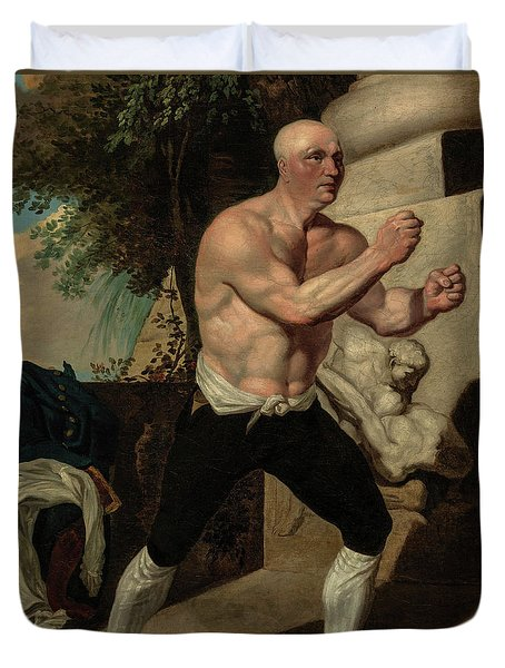 Jack Broughton, The Boxer, 1767 Duvet Cover