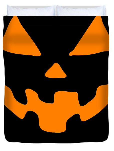 Jackolantern Happy Halloween Pumpkin Duvet Cover