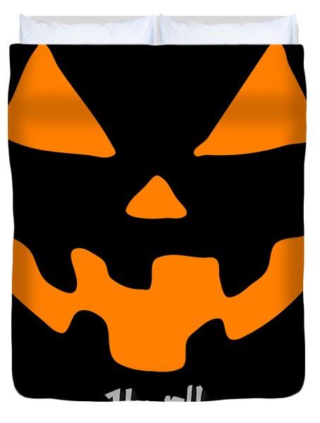 Jackolantern Pumpkin Happy Halloween Duvet Cover