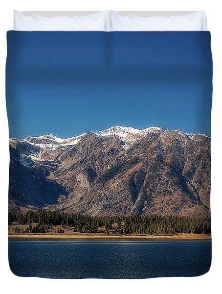 Jackson Lake Wyoming Duvet Cover