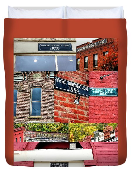 Duvet Cover featuring the photograph Jacksonville Collage 1 by Jerry Sodorff