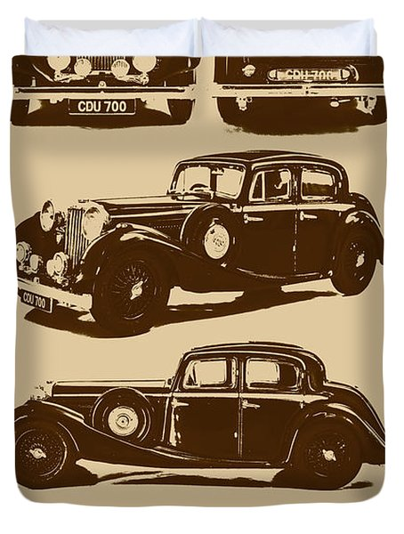 Jaguar Mark Iv Ss 2.5 Saloon Duvet Cover