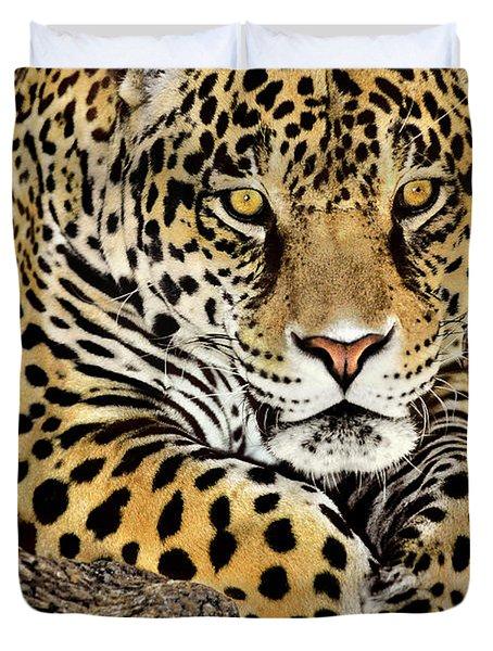 Jaguar Portrait Wildlife Rescue Duvet Cover