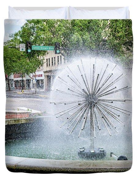 James Brown Blvd Fountain - Augusta Ga Duvet Cover