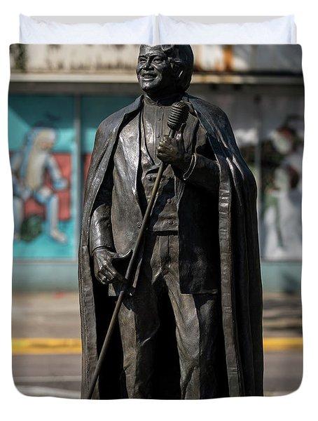 James Brown Statue - Augusta Ga 2 Duvet Cover