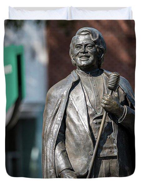 James Brown Statue - Augusta Ga Duvet Cover