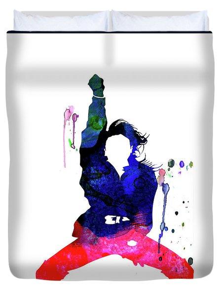 Janet Jackson Watercolor Duvet Cover