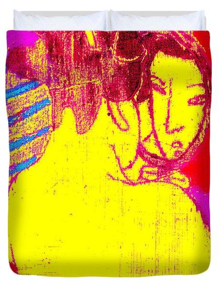 Japanese Pop Art Print 1 Duvet Cover