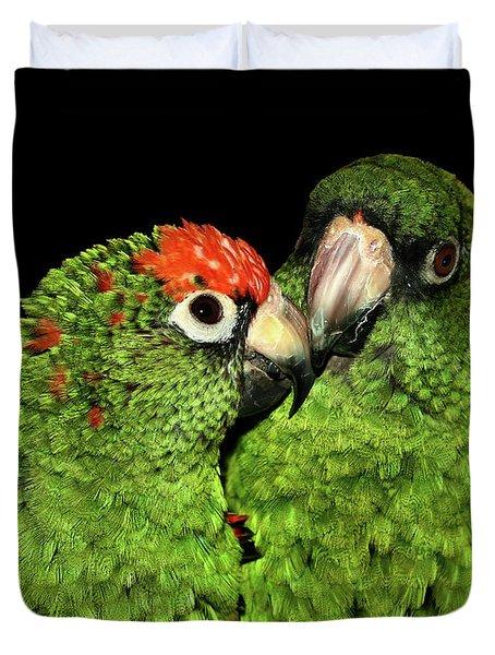Jardine's Parrots Duvet Cover