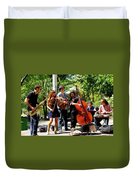 Jazz Musicians Duvet Cover