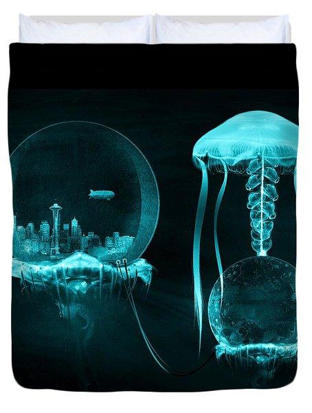 Jellyfish World Duvet Cover