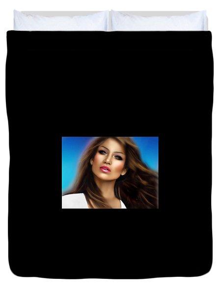 Jennifer Lopez Duvet Cover