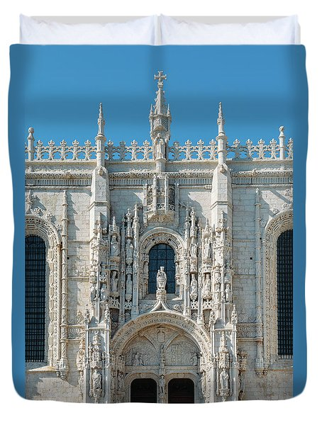 Jeronimos Monastery, Portugal Duvet Cover