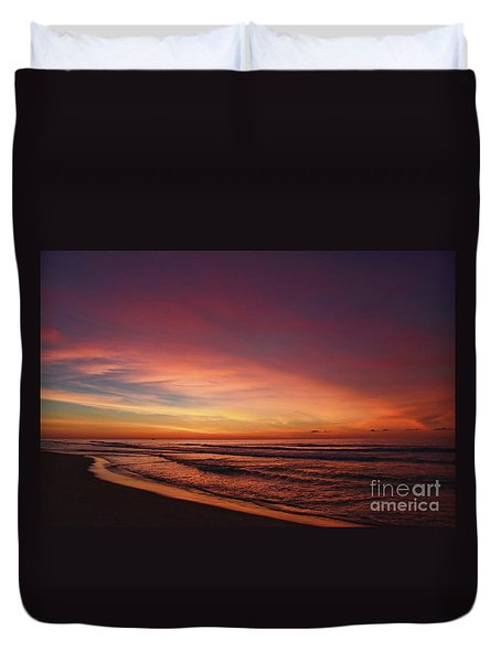 Jersey Shore Sunrise Duvet Cover