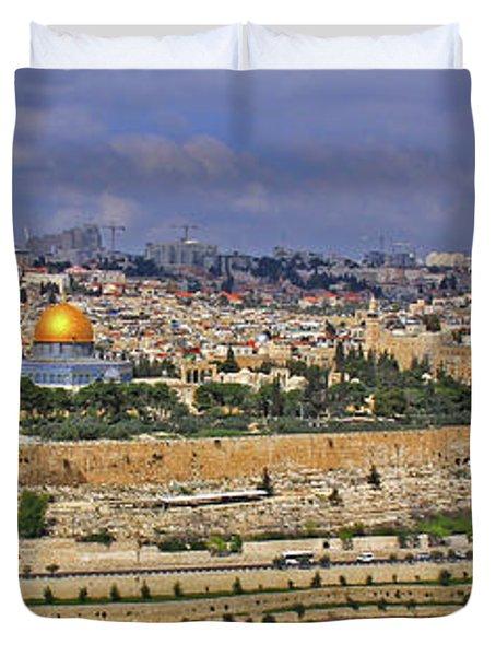 Jerusalem, Israel - Old City Walls Duvet Cover