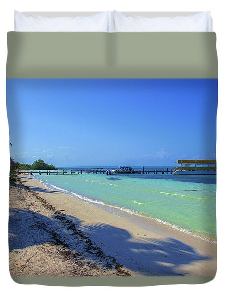 Jetty On Isla Contoy Duvet Cover