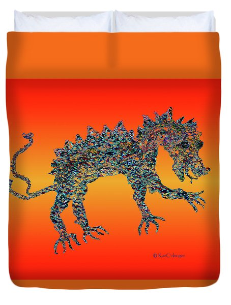 Jeweled Beast Dragon 1  Duvet Cover