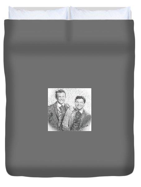 Jim And Artimus Duvet Cover