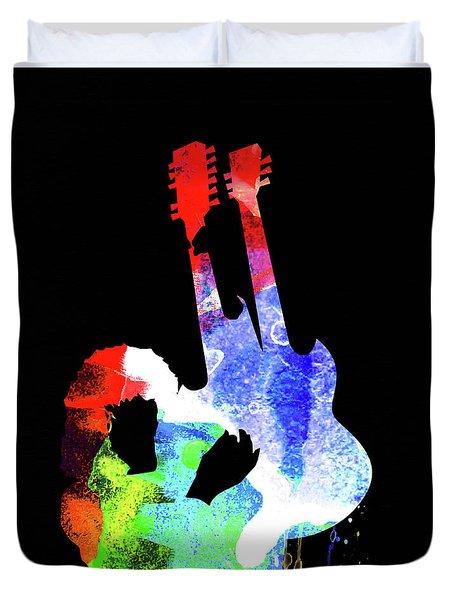 Jimmy Watercolor II Duvet Cover