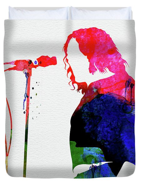 Joe Cocker Watercolor Duvet Cover