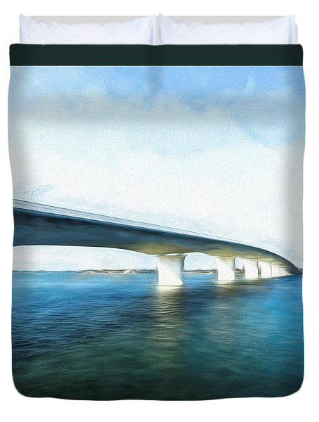 John Ringling Causeway Duvet Cover