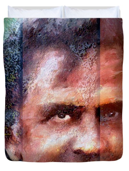 Johnny Cash Artwork Duvet Cover