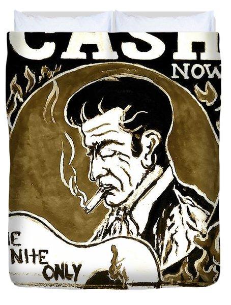 Johnny Cash Vintage Poster  Duvet Cover