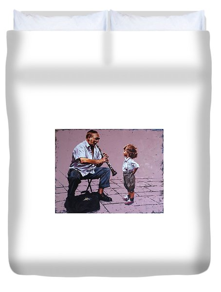 Join Us Oil Painting - W45.2 X H35.3 In - 2018 Duvet Cover