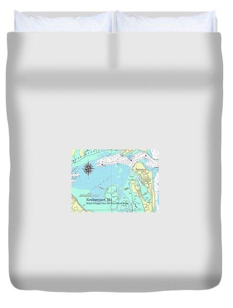 Joppa Flats Map Duvet Cover
