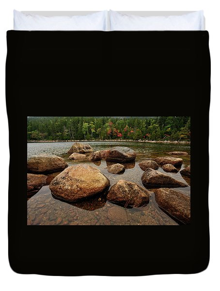 Jordon Pond Boulders Duvet Cover