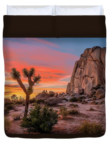 Joshua Tree Sunset Duvet Cover