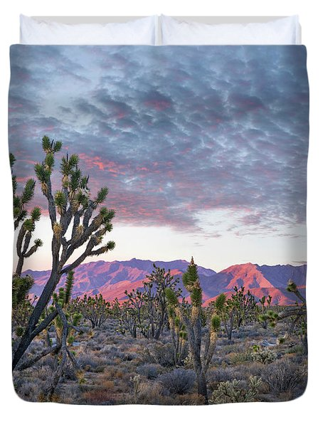Joshua Trees And Little San Bernardino Duvet Cover
