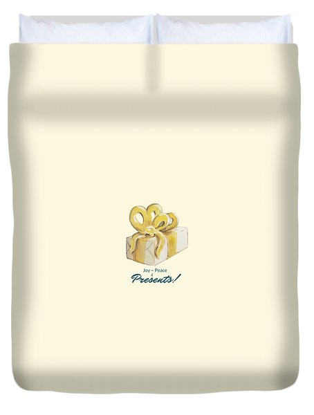 Joy, Peace And Presents Duvet Cover