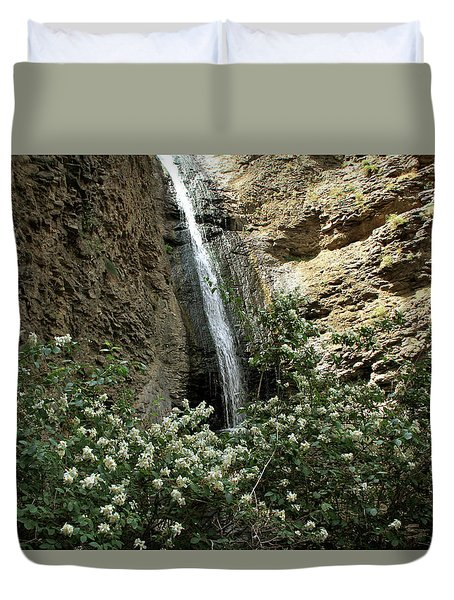 Jump Creek Falls Canyon Duvet Cover