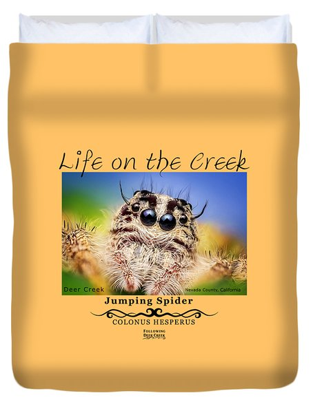 Jumping Spider Colonus Hesperus Duvet Cover