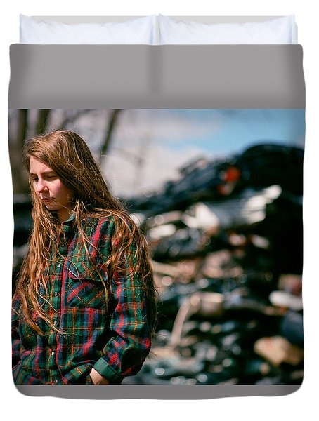 Duvet Cover featuring the photograph Junk by Carl Young