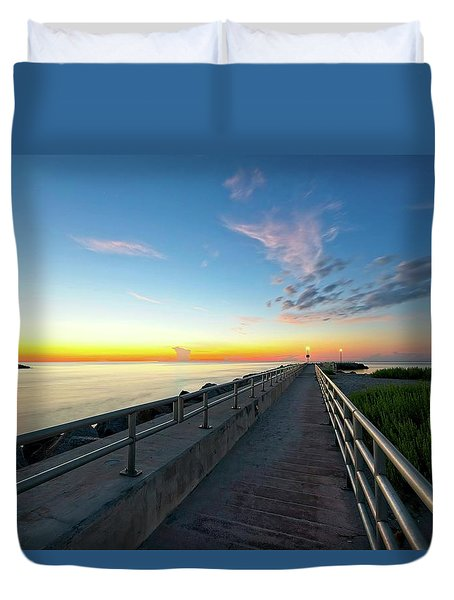Jupiter Inlet Morning Sky Duvet Cover
