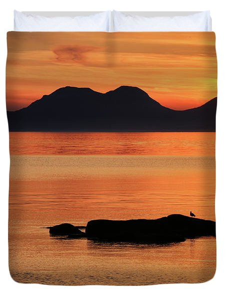 Jura Sunset Duvet Cover