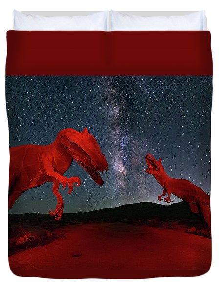 Duvet Cover featuring the photograph Jurassic by Tassanee Angiolillo