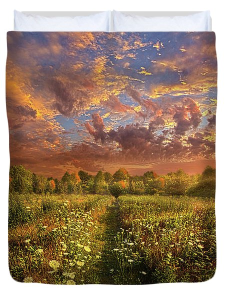 Duvet Cover featuring the photograph Just Follow Your Feet by Phil Koch