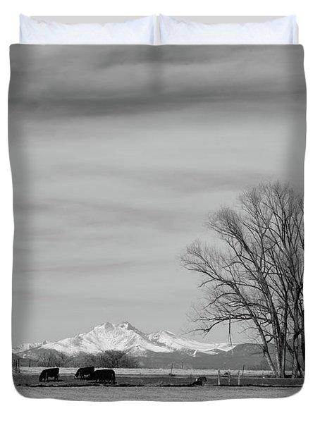 Just An Old Colorado Western Landscape Duvet Cover
