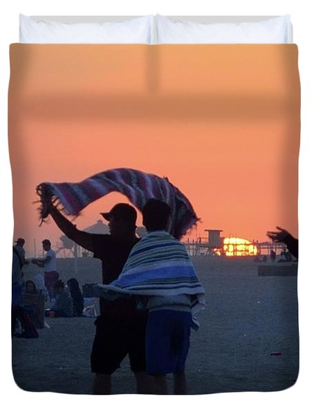 Duvet Cover featuring the photograph Just Another California Sunset by Ron Cline