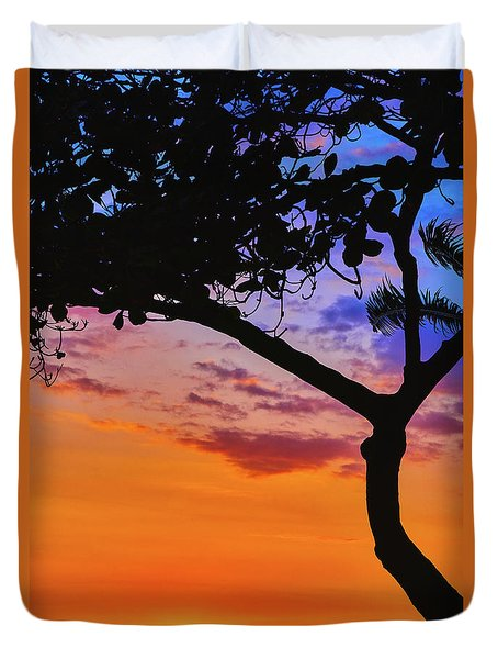 Just Another Kona Sunset Duvet Cover